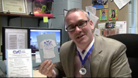 Riverhead High School assistant principal Patrick Burke organized the Run to Remember race to honor students and faculty members who have passed away. Credit: Riverhead Central School District