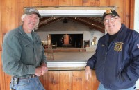 Fred Schoenstein, left, and Butch Corwin of the Greenport American Legion Burton Potter Post 185 are spearheading the renovation project. Photo: Peter Blasl